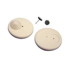 100 RF Sicherungsetiketten Hartetiketten Warensicherung R50 light  schwarz